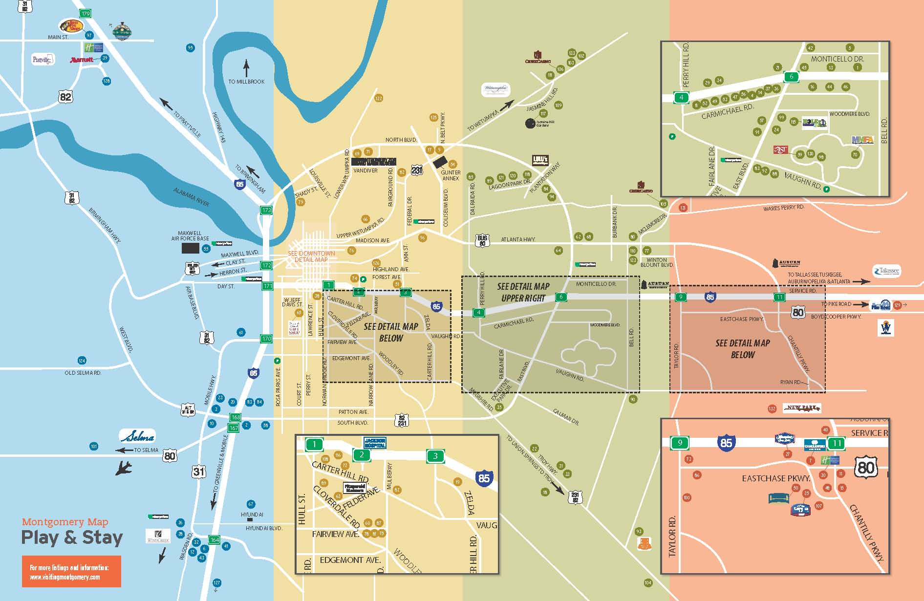 Directions – Alabama Tourist Attractions Map