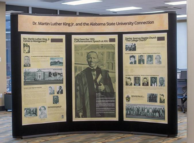 the three-panel exhibit explores King's 1954 arrival in Montgomery, his role in the Montgomery Bus Boycott, and his ascendancy as a key spokesman for the burgeoning Civil Rights Movement.
