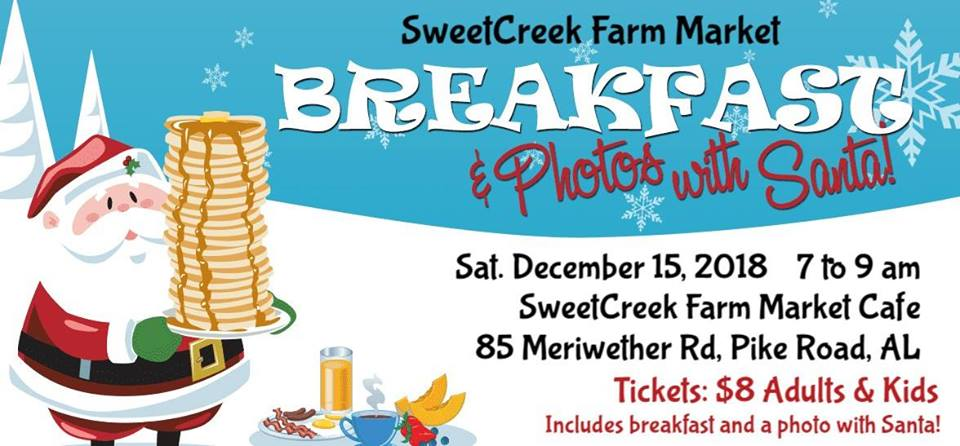 Breakfast with Santa at SweetCreek Farm Market