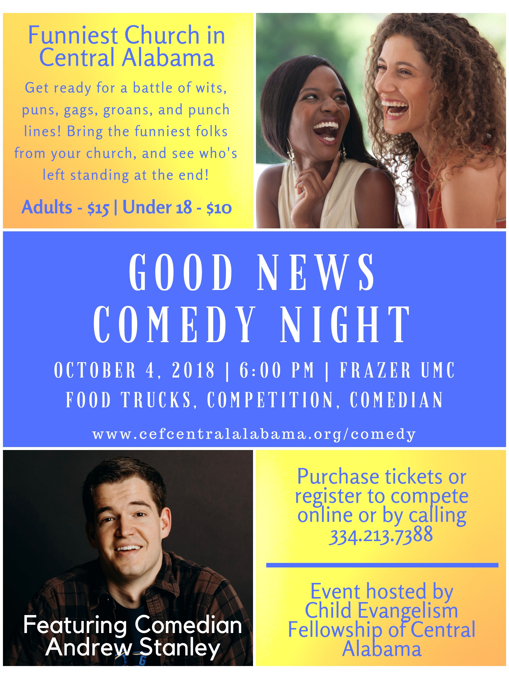 Good News Comedy Night presented by CEF Central Alabama