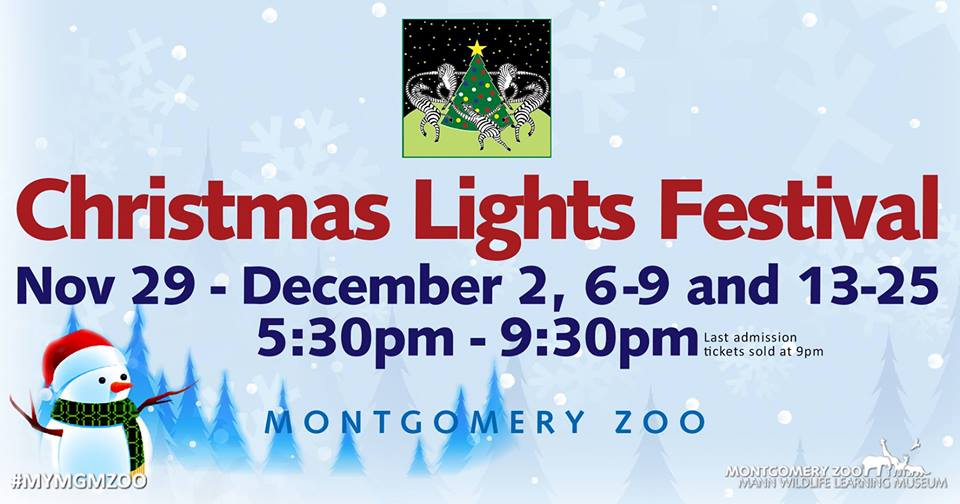 Montgomery Zoo's Christmas Lights Festival