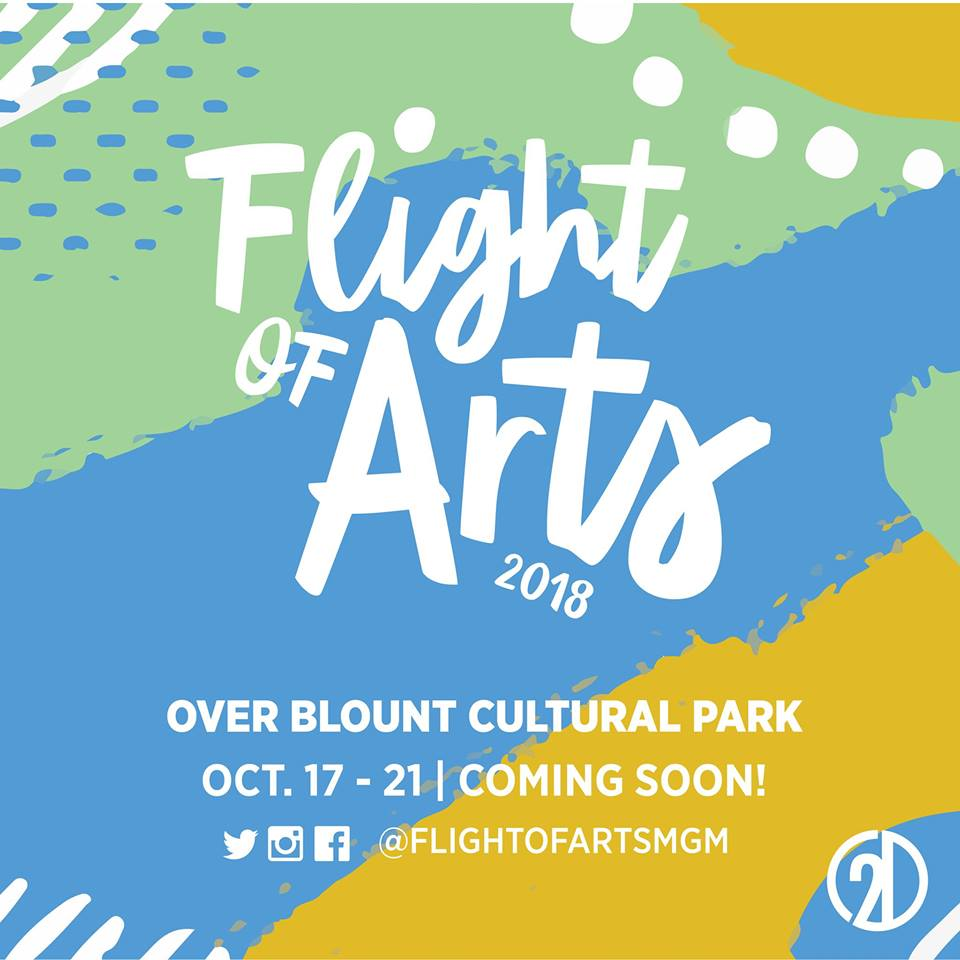 Flight of Arts over Blount Cultural Park