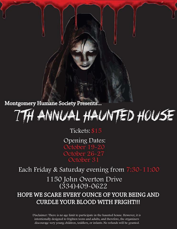Montgomery Humane Society's Annual Haunted House