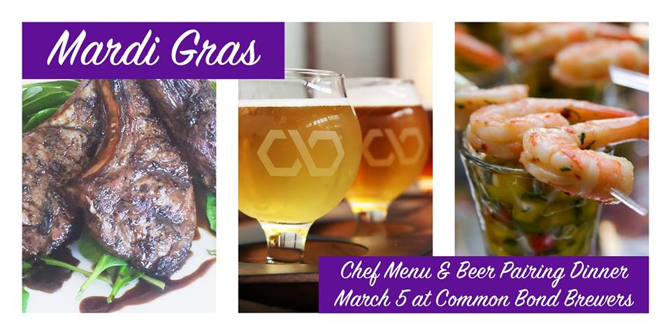 Mardi Gras Four-Course, Beer-Pairing Dinner