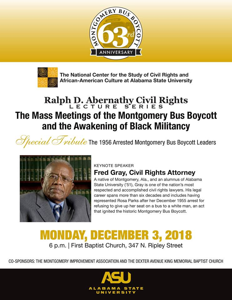 The 63rd Anniversary of the Montgomery Bus Boycott