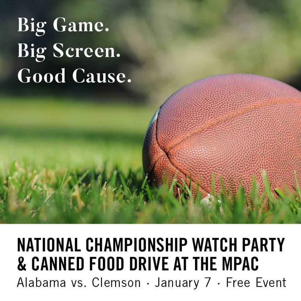 National Championship Game and Canned Food Drive