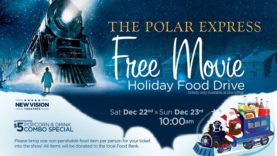 Free Family Movie: Polar Express, Dec 22nd and 23rd!