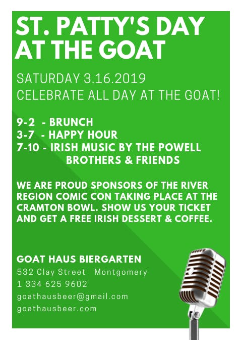 St. Patty's Day at Goat Haus Biergarten
