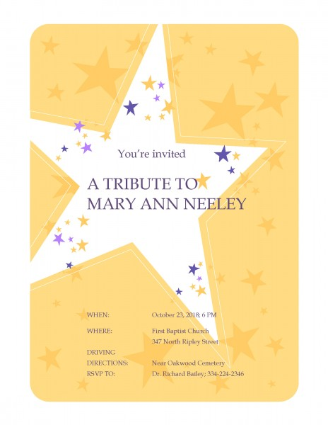 A Tribute to Mary Ann Neeley