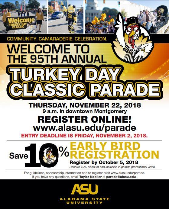 annual turkey day classic parade & football game