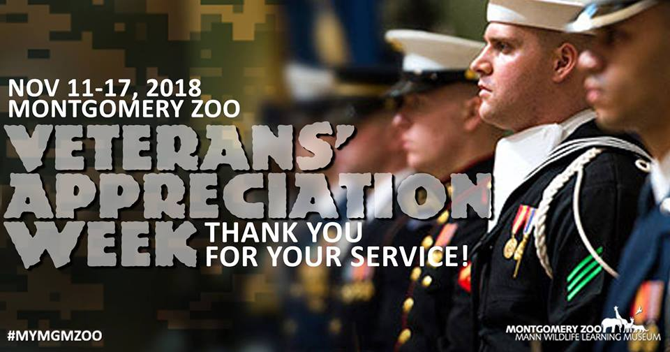Veterans Appreciation Week at the Montgomery Zoo