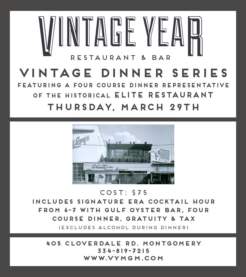 Vintage Dinner Series featuring Elite Restaurant