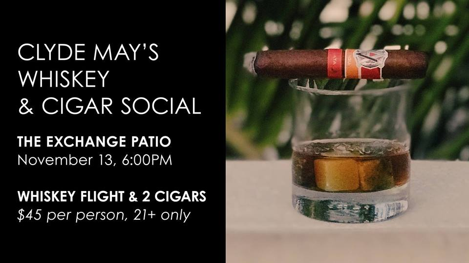 Whiskey & Cigar Social on The Exchange Patio