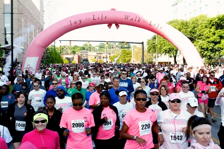 The Joy to Life Foundation is excited to celebrate their 17th year of the Joy to Life - Walk of Life! Join them this year on Saturday, April 21st and run or walk to raise awareness and support for the fight against breast cancer.