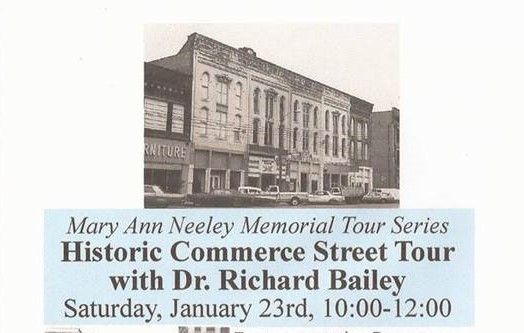 Historic Commerce Street Tour with Dr. Richard Bailey